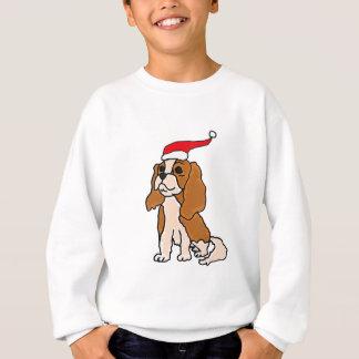 Unbekümmerte Königcharles Spaniel-Weihnachtskunst Sweatshirt