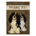 Unbekümmerter König Dogs Thank You Card Karten