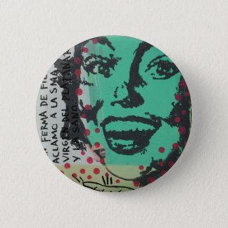 Unberechtigter Pinup Runder Button 5,1 Cm