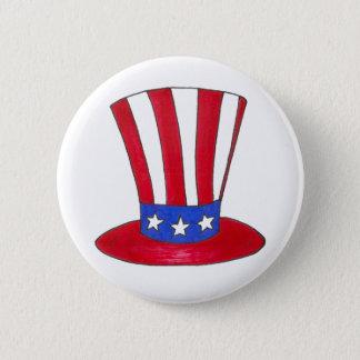 Uncle Sam Am 4. Juli USA patriotischer Runder Button 5,1 Cm