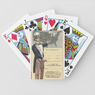 Uncle Sam Bicycle Spielkarten