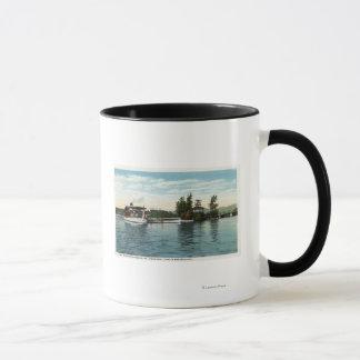 Uncle Sam Dampfer an der Loon-Insel-Landung Tasse