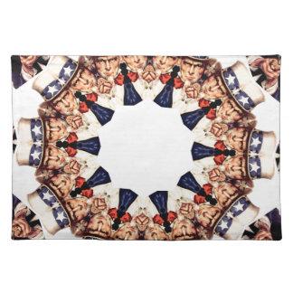 Uncle Sam Finger-Kaleidoskop zeigend Tischset