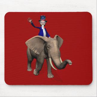 Uncle Sam Reiten auf Elefanten Mauspads