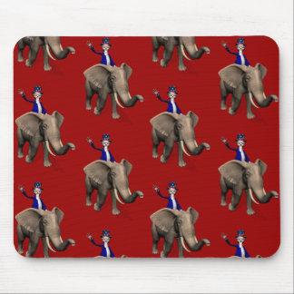 Uncle Sam Reiten auf Elefanten Mousepad
