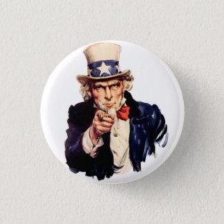 Uncle Sam Runder Button 2,5 Cm