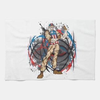 Uncle Sam Stammes- Tarnungs-Jäger-Schädel Handtuch