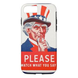 Uncle Sam Uhr, was Sie iPhone 6 starken Fall sagen iPhone 8/7 Hülle