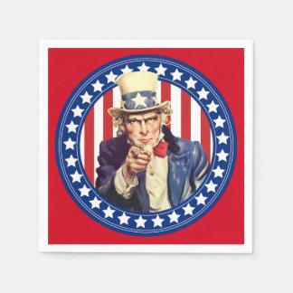 Uncle Sam US Flagge Servietten