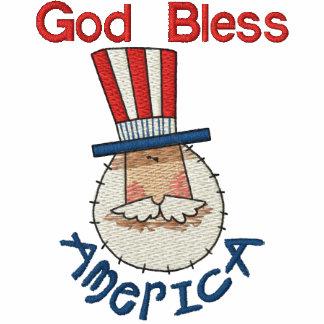 Uncle Sam USA Besticktes Poloshirt