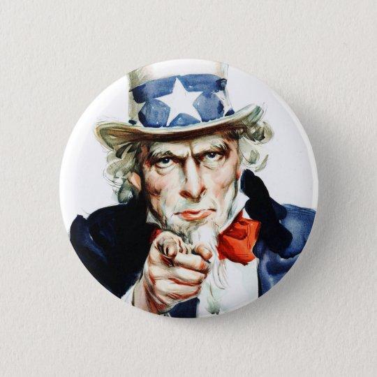 Uncle Sam - Von Vintagem Flagg Plakat Runder Button 5,7 Cm