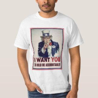 Uncle Sam Will gerade gehalten zu werden T-Shirt