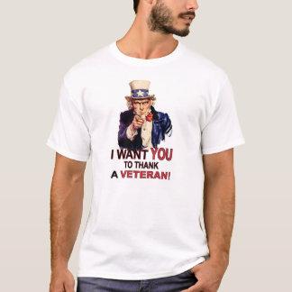 Uncle Sam Will ich Sie, um einem Veteranen-T - T-Shirt