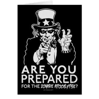 Uncle Sam Zombie-Apokalypse-Karten Karte