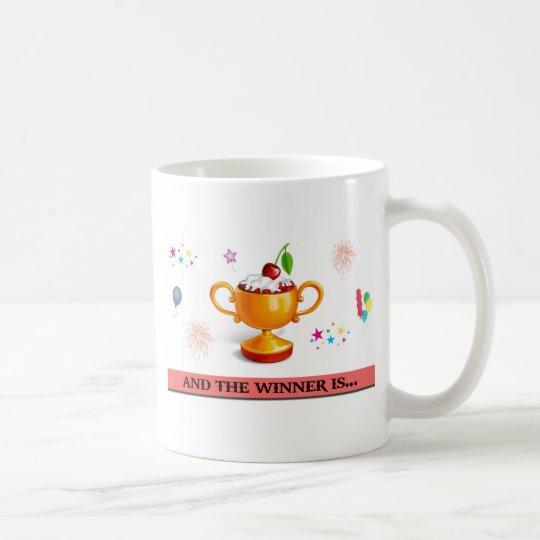 Und der Sieger ist Nachtisch-Cup Kaffeetasse