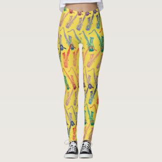 Und dieses ganzes Jazz-Muster Leggings