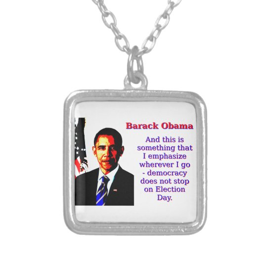 Und dieses ist etwas, das ich hervorhebe - Barack Halskette Mit Quadratischem Anhänger