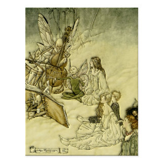 Und ein feenhaftes Lied - Arthur Rackham Postkarte