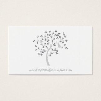 Und ein Rebhuhn in einem Birnenbaum Visitenkarte