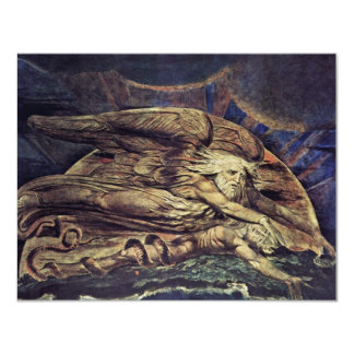 Und Elohim stellte Adam durch William Blake her Individuelle Ankündigskarten