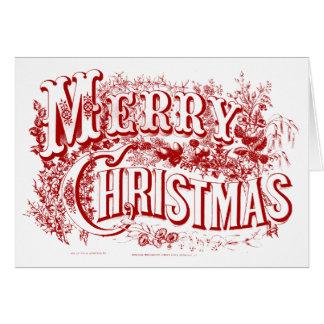 und frohe Weihnacht-Raum-Mitteilungskarten Karte