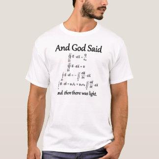 Und Gott sagte integrale Form von Maxwells T-Shirt