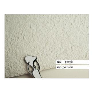 und Leute und politisch Postkarten