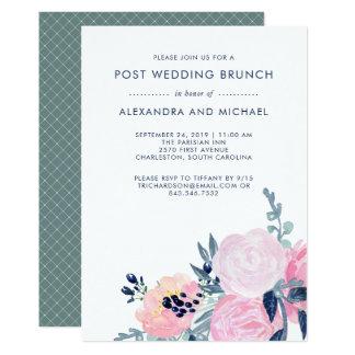 Und Posten-Hochzeits-Brunch der Marine-erröten Karte