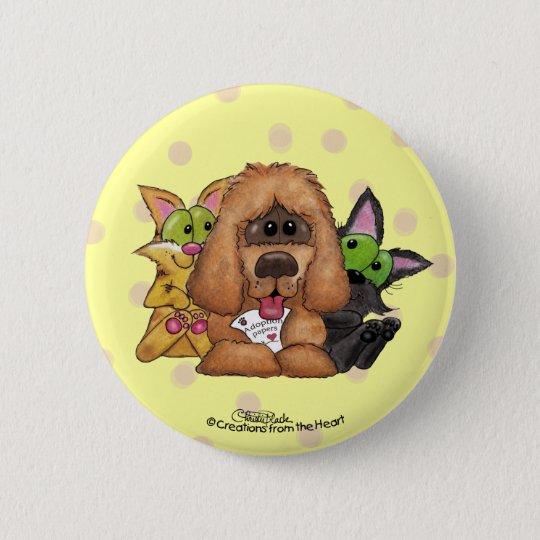 Und Tig mit Sassie-Haustier Adoption ist LIEBE Runder Button 5,1 Cm
