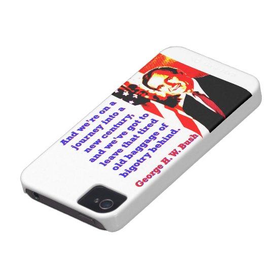 Und wir sind auf einer Reise - George H W Bush Case-Mate iPhone 4 Hüllen