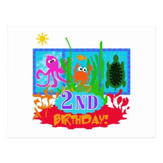 Undersea 2. Geburtstags-T - Shirts und -geschenke Postkarte