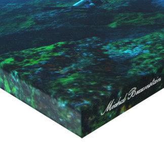 Underwater Fernando de Noronha, Brasilien - Leinwa Leinwanddruck