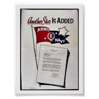 Une autre étoile est ajoutée, marine d'armée affiche