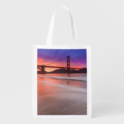 Une capture de golden gate bridge de San Francisco Sacs D'épicerie Réutilisables