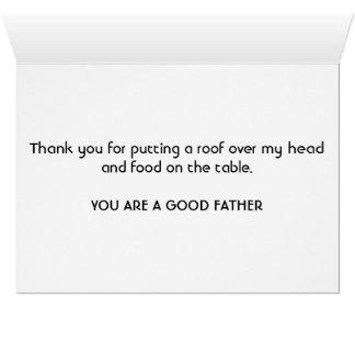 Une carte simple de fête des pères
