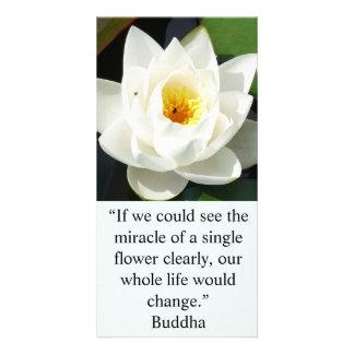 Une carte simple de fleur blanche photocarte personnalisée