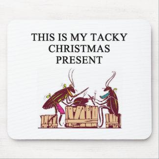 une conception de mauvais goût de cadeau de Noël Tapis De Souris