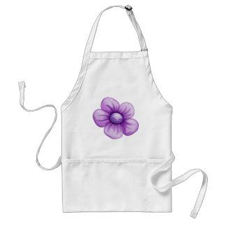 Une fleur violette tabliers