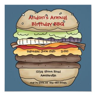 Une invitation juteuse d'hamburger
