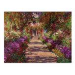 Une voie dans Garden de Monet, Giverny, 1902 Cartes Postales