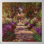 Une voie dans Garden de Monet, Giverny, 1902 Poster