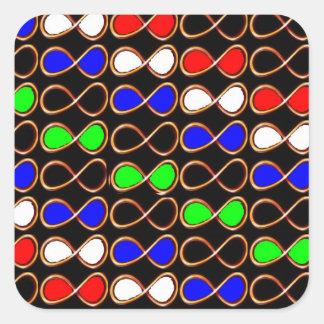 UNENDLICHKEIT EDIT ColorShade+Text IMG verformen Quadratischer Aufkleber