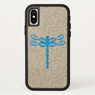 Unendlichkeits-Libellenblau iPhone X Hülle