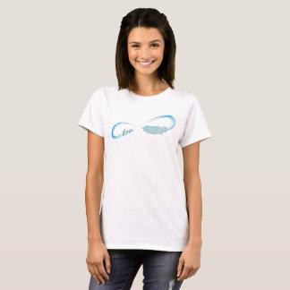Unendlichkeits-Symbol mit Liebe und Feder T-Shirt