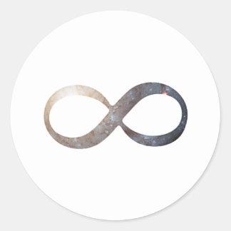 Unendlichkeits-Symbol Runder Aufkleber