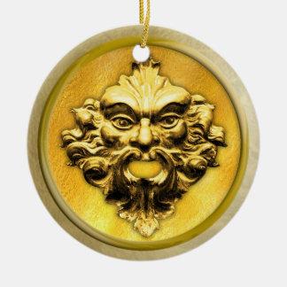 Unerfahrener Mitarbeiter im Gold mit Rahmen #2 Keramik Ornament