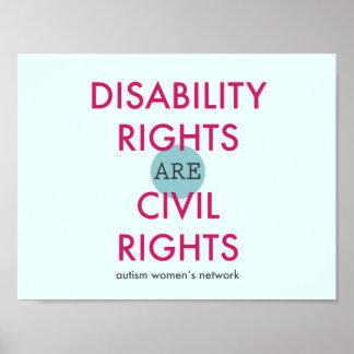 Unfähigkeits-Recht-Plakat Poster