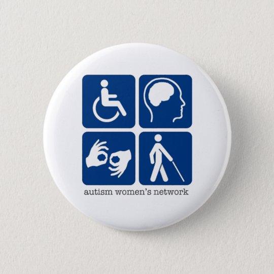 Unfähigkeits-Zugangs-Knopf Runder Button 5,1 Cm