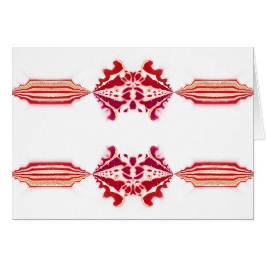 Unforgetable rotes weißes magentarotes Gold blühen Grußkarte