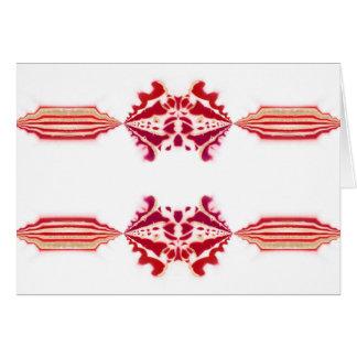 Unforgetable rotes weißes magentarotes Gold blühen Karte
